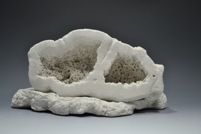Ceramic Sculpture of Crystal Stone